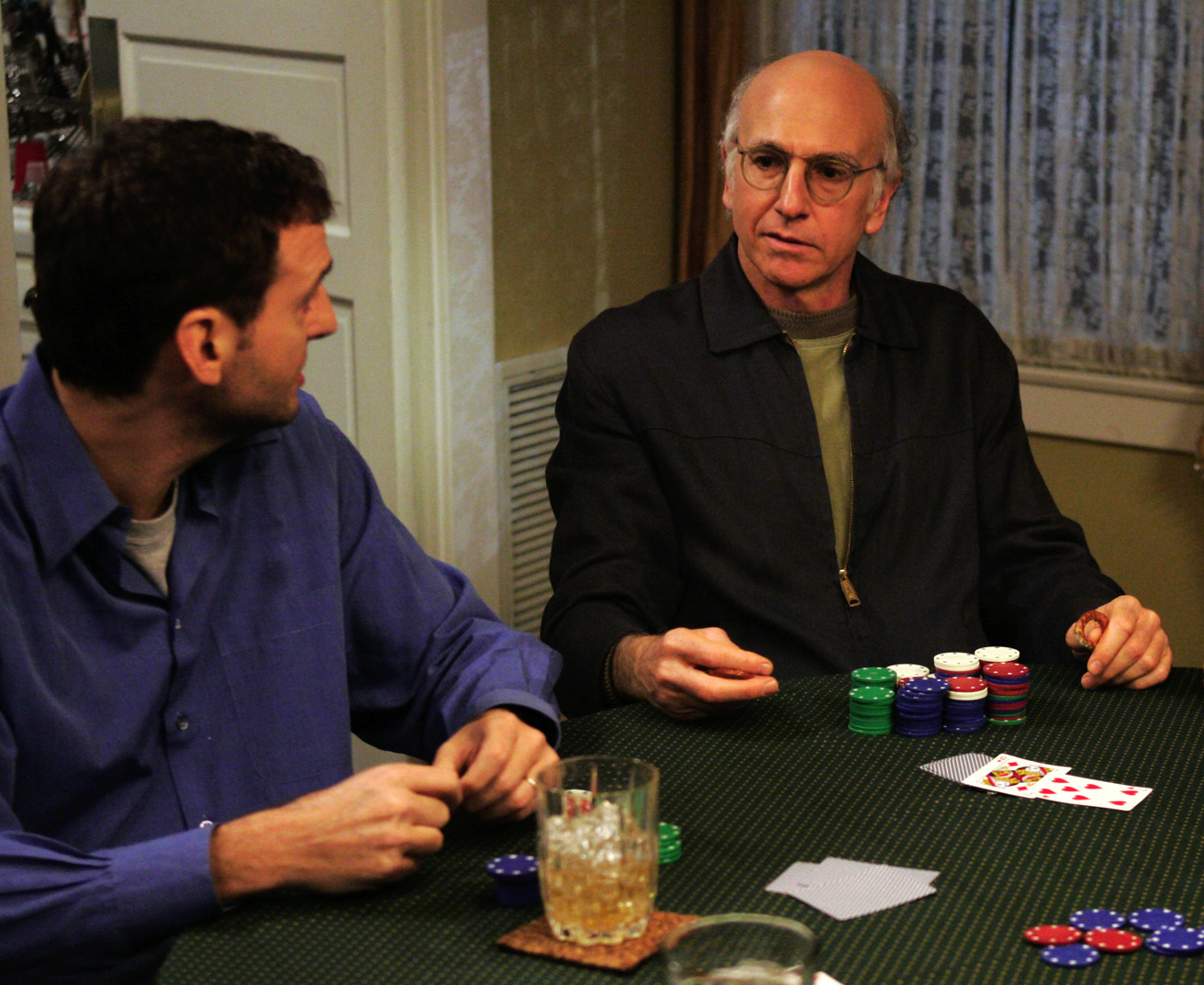Larry David playing poker